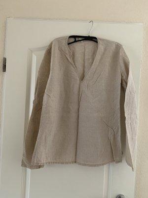 Calvin Klein Jeans Koronkowa bluzka camel Len