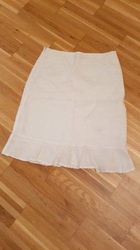 Amisu Falda de lino blanco