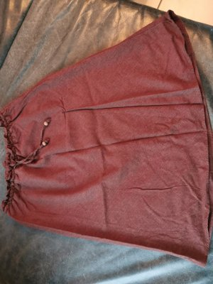 H&M Basic Falda de lino coñac