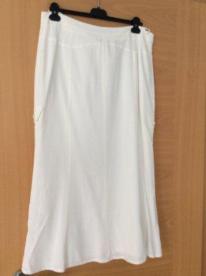markenlos Spódnica z godetami biały