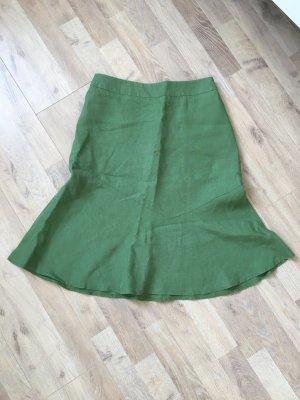 enna Falda de lino verde hierba Lino