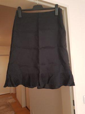 H&M Linen Skirt black