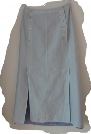 Jupe en lin bleu pâle