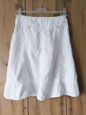 Esprit Lniana spódnica biały Len