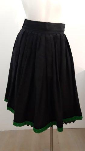 Jupe en lin noir-vert foncé