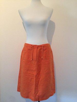 Tom Tailor Falda de lino naranja
