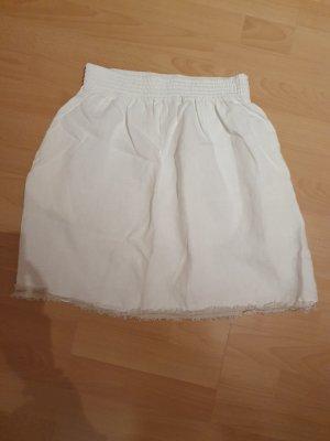 0039 Italy Falda de lino blanco