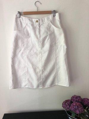 H&M Linen Skirt white linen