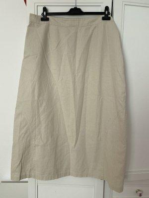 Lniana spódnica jasnobeżowy