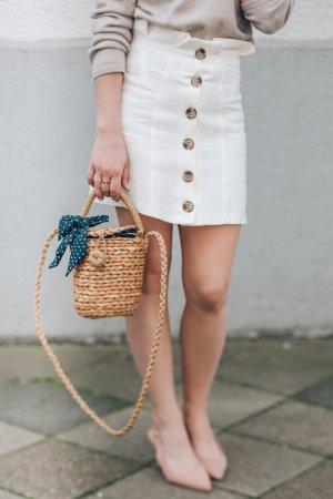 Topshop Petite Falda de lino multicolor Lino