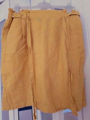 Ellen Tracy Jupe en lin jaune foncé-orange doré lin