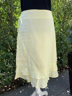 H&M Gonna in lino giallo chiaro