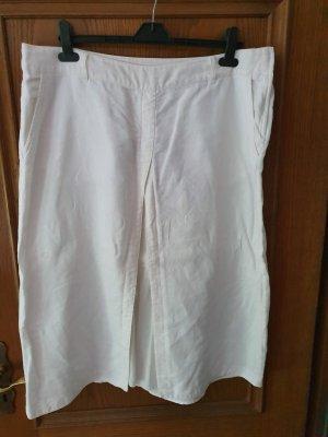 H&M Linen Skirt white