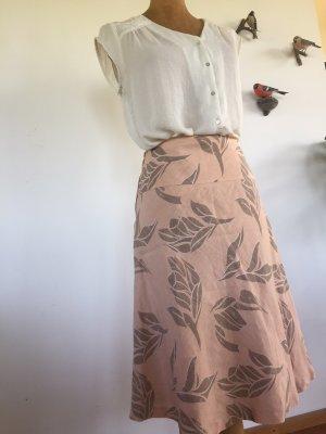 H&M Linen Skirt rose-gold-coloured-light brown
