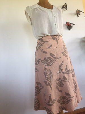 H&M Lniana spódnica w kolorze różowego złota-jasnobrązowy
