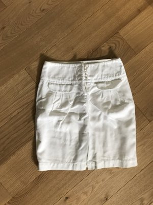 Campus by Marc O'Polo Linen Skirt white-natural white leather