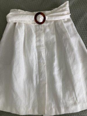 Massimo Dutti Jupe en lin blanc