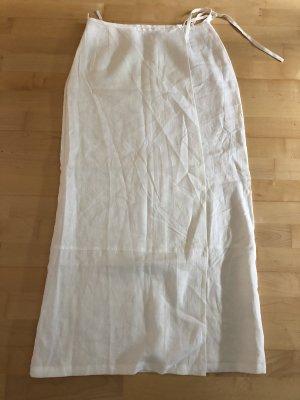 Max Mara Linen Skirt white
