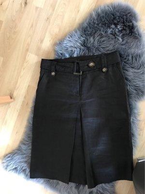 Zara Basic Jupe en lin noir