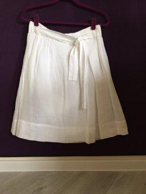 Turnover Lniana spódnica biały