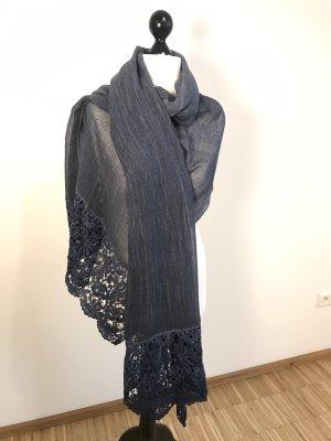 Alexandra Sjaal donkerblauw