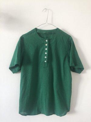 Leinenshirt Leinenbluse Grün