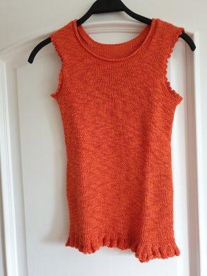 Leinentop,  handmade, orange,  Gr. M/L, neu