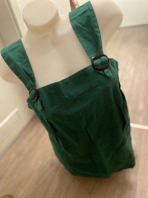 Leinentop Leinen shirt Oberteil grün Trägertop 40-42 L