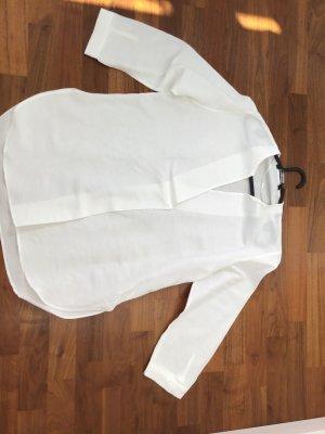 Zara Woman Linen Blouse white linen
