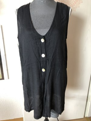 Gebreid vest zwart-wit