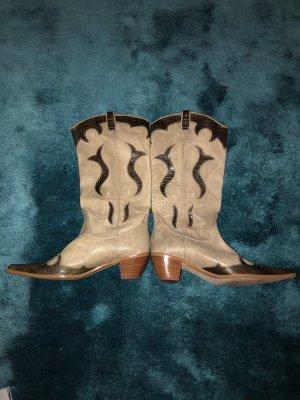 Leiser Western Laarzen licht beige-khaki
