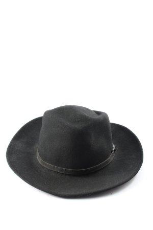 Leisure felt Wollen hoed zwart klassieke stijl
