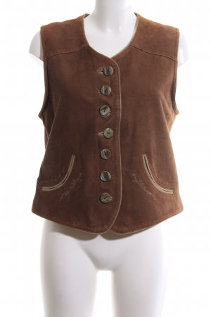 Lekra Traditional Vest brown casual look