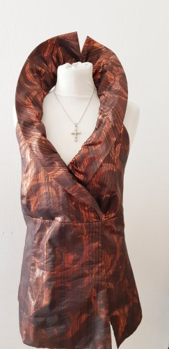 LeKress Top schiena coperta bronzo-grigio scuro