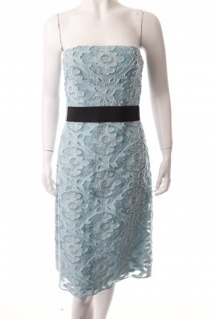 Lela rose Corsage Dress turquoise Lace trimming