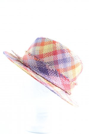 Lembert Straw Hat check pattern casual look