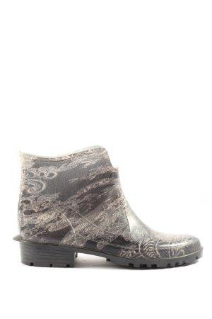 lemigo Gumowe buty czarny-jasnoszary Abstrakcyjny wzór W stylu casual