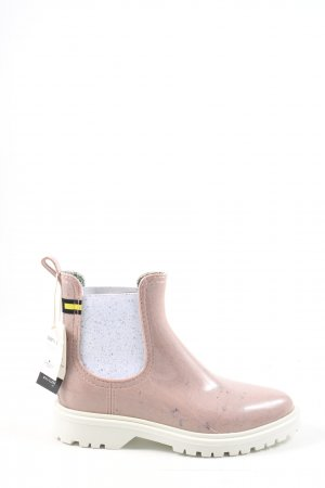 Lemon Jelly Chelsea Boots pink casual look