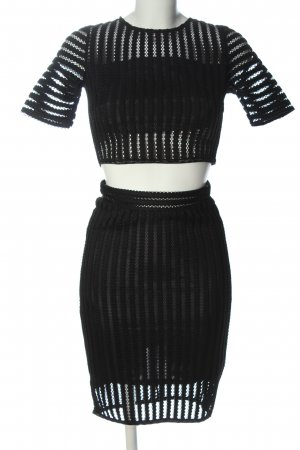 Lemon Woven Twin Set black striped pattern elegant