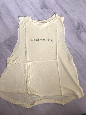 GinaTricot Camisa holgada amarillo claro-amarillo pálido