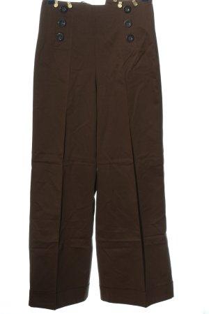 Lena Hoschek Baggy Pants braun-blassgelb Casual-Look