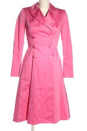 Lena Hoschek Abrigo de piloto rosa elegante