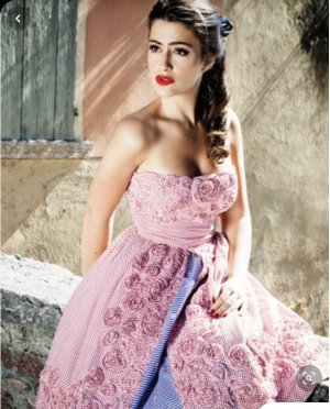 Lena Hoschek Kleid, Amore Dress, Polka Roses
