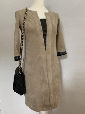 Lenny B. Chic Couture Kleid Paris, Kunstleder, Gr. T1 34/36, Beige