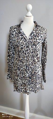 Me & Lou Munich Lange blouse zwart-taupe