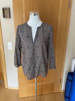 1.2.3. UN DEUX TROIS Paris Bluzka tunika czarny-jasnobrązowy