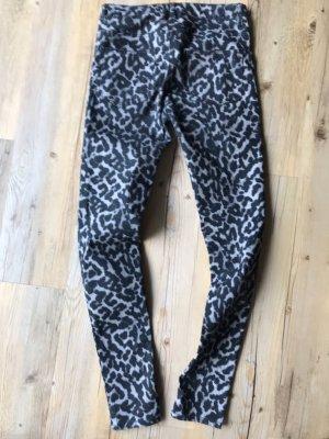 H&M pantalón de cintura baja negro-gris