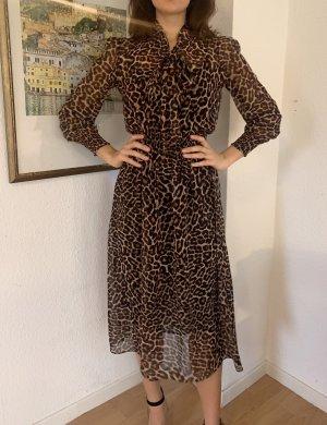 Zara Maxi-jurk zwart-zandig bruin