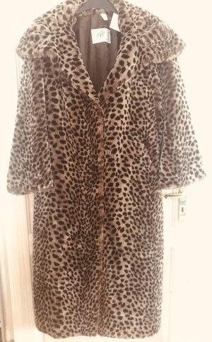 Couture Hélène Fake Fur Coat bronze-colored-black