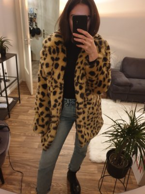 leo Mantel faux fur leopard